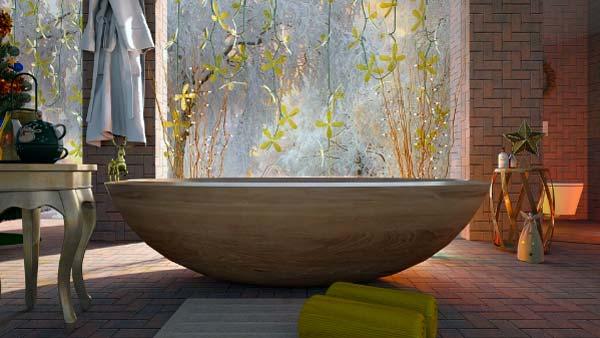 Elementos modernos del cuarto de baño