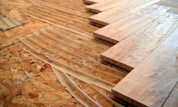 instalación de pisos de madera